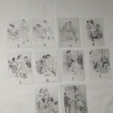 """Postales: COLECCIÓN 10 FOTOS PORNO ERÓTICAS (CROMOS NUMERADOS) """"LA SECRETARIA"""" - AÑOS 30/40. Lote 230803830"""