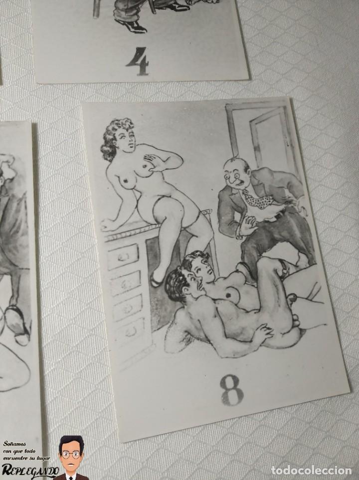 """Postales: COLECCIÓN 10 FOTOS PORNO ERÓTICAS (CROMOS NUMERADOS) """"LA SECRETARIA"""" - AÑOS 30/40 - Foto 10 - 230803830"""