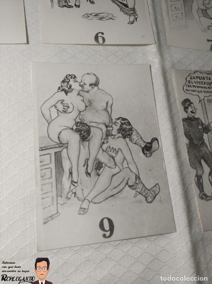 """Postales: COLECCIÓN 10 FOTOS PORNO ERÓTICAS (CROMOS NUMERADOS) """"LA SECRETARIA"""" - AÑOS 30/40 - Foto 11 - 230803830"""