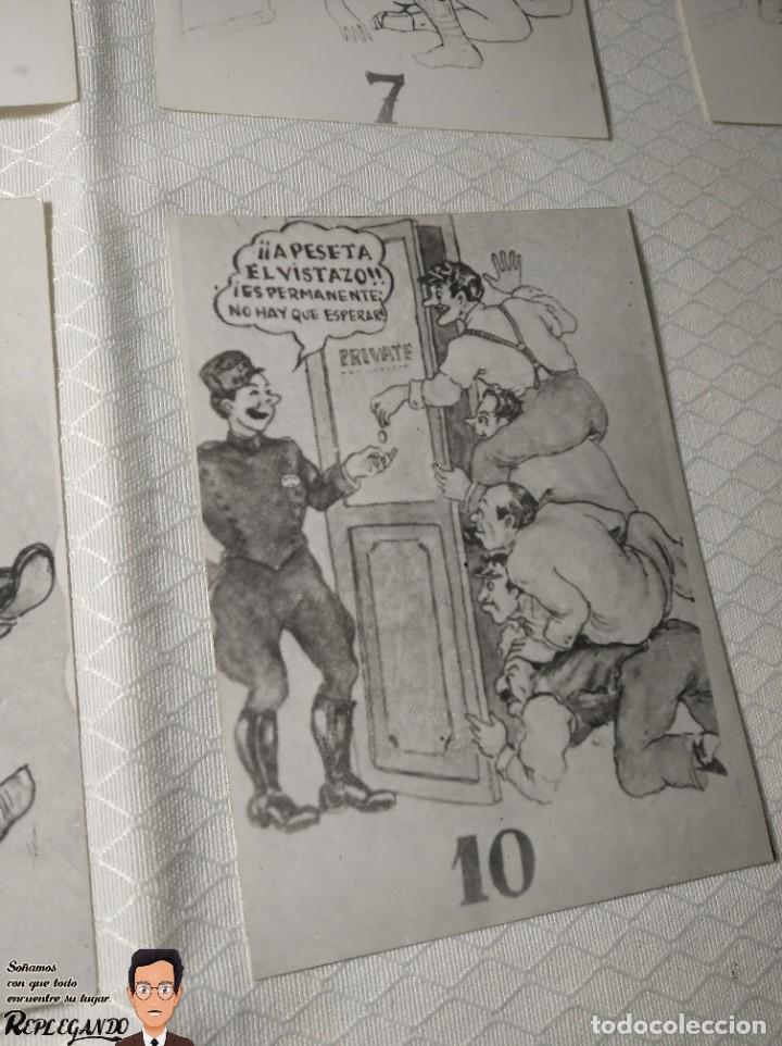 """Postales: COLECCIÓN 10 FOTOS PORNO ERÓTICAS (CROMOS NUMERADOS) """"LA SECRETARIA"""" - AÑOS 30/40 - Foto 12 - 230803830"""