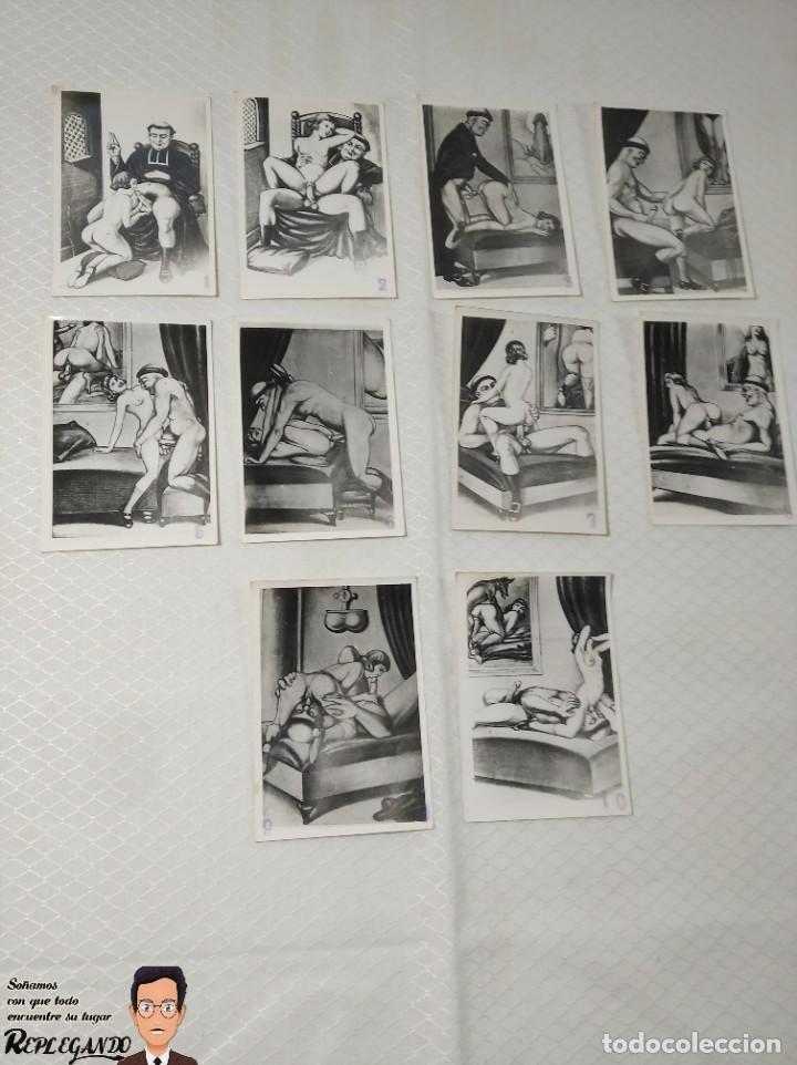 """COLECCIÓN 10 FOTOS PORNO ERÓTICAS (CROMOS NUMERADOS) """"LA CONFESIÓN"""" ZOOFILIA - AÑOS 30/40 (Coleccionismo para Adultos - Postales Temáticas - Eróticas y Pin Ups)"""