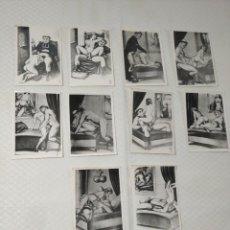 """Postales: COLECCIÓN 10 FOTOS PORNO ERÓTICAS (CROMOS NUMERADOS) """"LA CONFESIÓN"""" ZOOFILIA - AÑOS 30/40. Lote 230804200"""