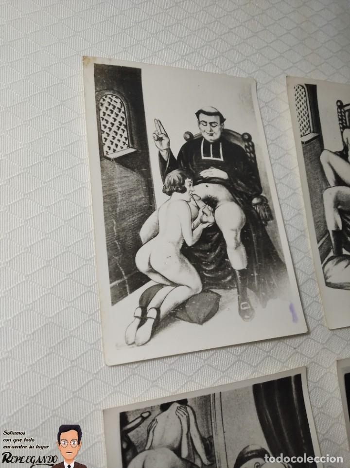 """Postales: COLECCIÓN 10 FOTOS PORNO ERÓTICAS (CROMOS NUMERADOS) """"LA CONFESIÓN"""" ZOOFILIA - AÑOS 30/40 - Foto 2 - 230804200"""