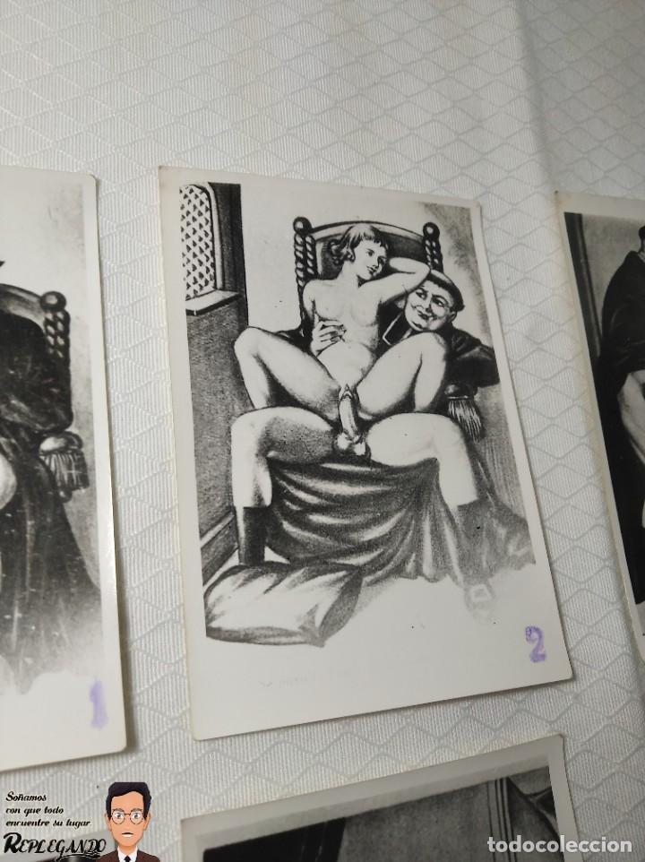 """Postales: COLECCIÓN 10 FOTOS PORNO ERÓTICAS (CROMOS NUMERADOS) """"LA CONFESIÓN"""" ZOOFILIA - AÑOS 30/40 - Foto 3 - 230804200"""