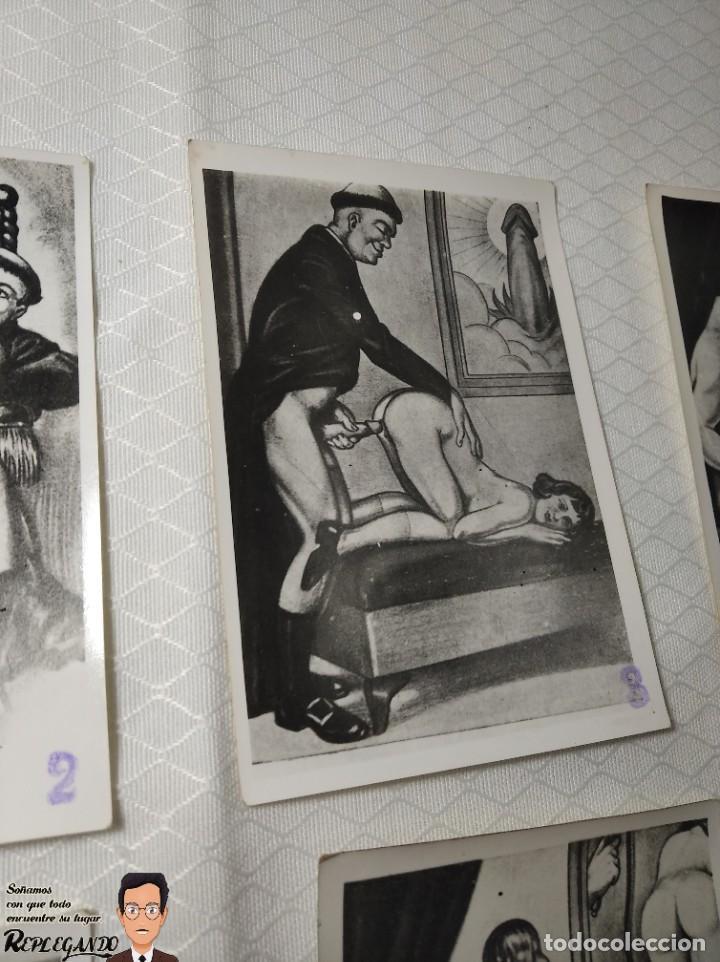 """Postales: COLECCIÓN 10 FOTOS PORNO ERÓTICAS (CROMOS NUMERADOS) """"LA CONFESIÓN"""" ZOOFILIA - AÑOS 30/40 - Foto 4 - 230804200"""
