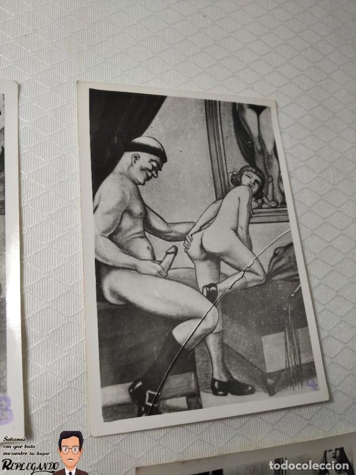 """Postales: COLECCIÓN 10 FOTOS PORNO ERÓTICAS (CROMOS NUMERADOS) """"LA CONFESIÓN"""" ZOOFILIA - AÑOS 30/40 - Foto 5 - 230804200"""