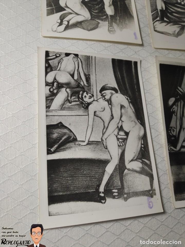 """Postales: COLECCIÓN 10 FOTOS PORNO ERÓTICAS (CROMOS NUMERADOS) """"LA CONFESIÓN"""" ZOOFILIA - AÑOS 30/40 - Foto 6 - 230804200"""