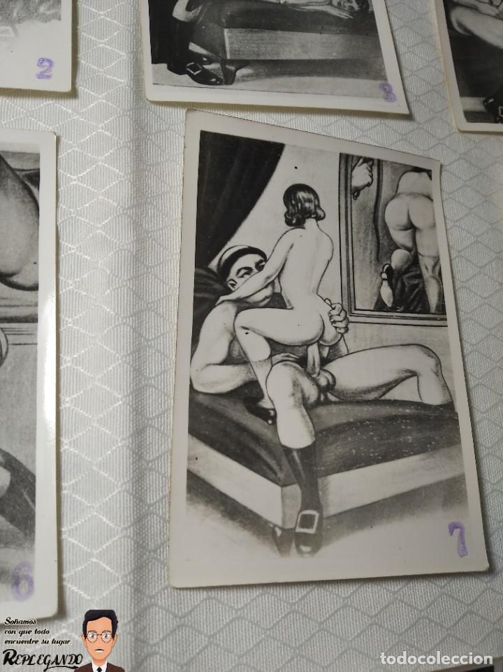"""Postales: COLECCIÓN 10 FOTOS PORNO ERÓTICAS (CROMOS NUMERADOS) """"LA CONFESIÓN"""" ZOOFILIA - AÑOS 30/40 - Foto 8 - 230804200"""
