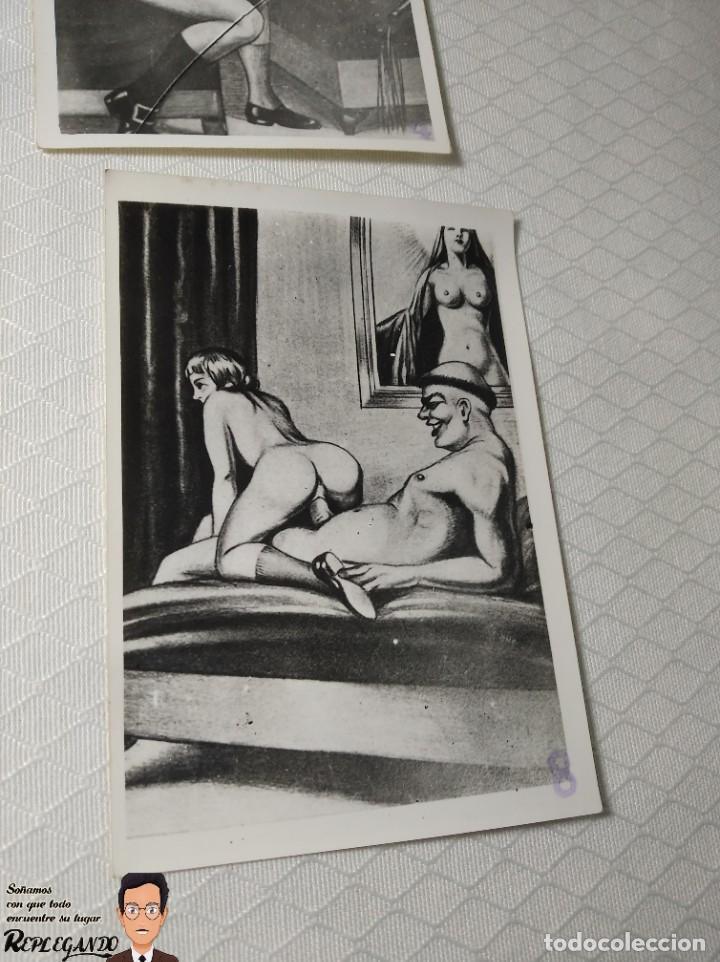 """Postales: COLECCIÓN 10 FOTOS PORNO ERÓTICAS (CROMOS NUMERADOS) """"LA CONFESIÓN"""" ZOOFILIA - AÑOS 30/40 - Foto 9 - 230804200"""