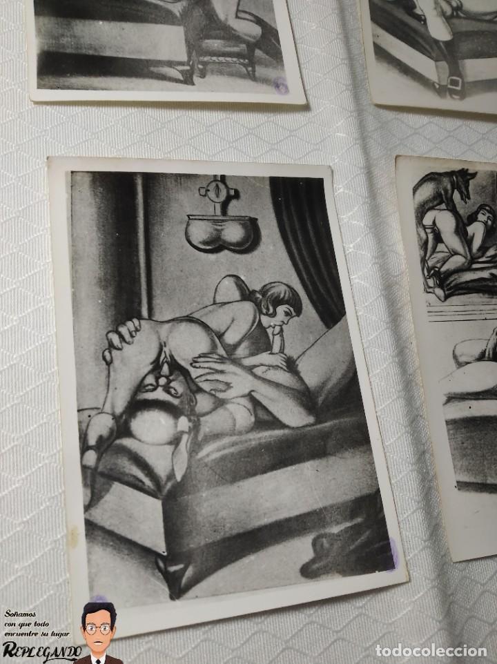 """Postales: COLECCIÓN 10 FOTOS PORNO ERÓTICAS (CROMOS NUMERADOS) """"LA CONFESIÓN"""" ZOOFILIA - AÑOS 30/40 - Foto 10 - 230804200"""
