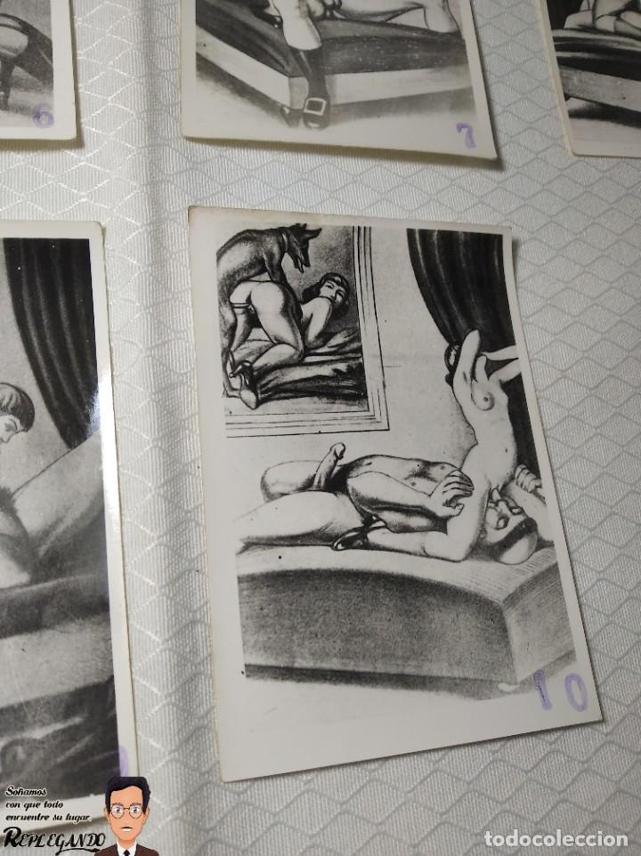 """Postales: COLECCIÓN 10 FOTOS PORNO ERÓTICAS (CROMOS NUMERADOS) """"LA CONFESIÓN"""" ZOOFILIA - AÑOS 30/40 - Foto 11 - 230804200"""
