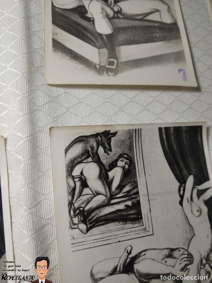 """Postales: COLECCIÓN 10 FOTOS PORNO ERÓTICAS (CROMOS NUMERADOS) """"LA CONFESIÓN"""" ZOOFILIA - AÑOS 30/40 - Foto 12 - 230804200"""