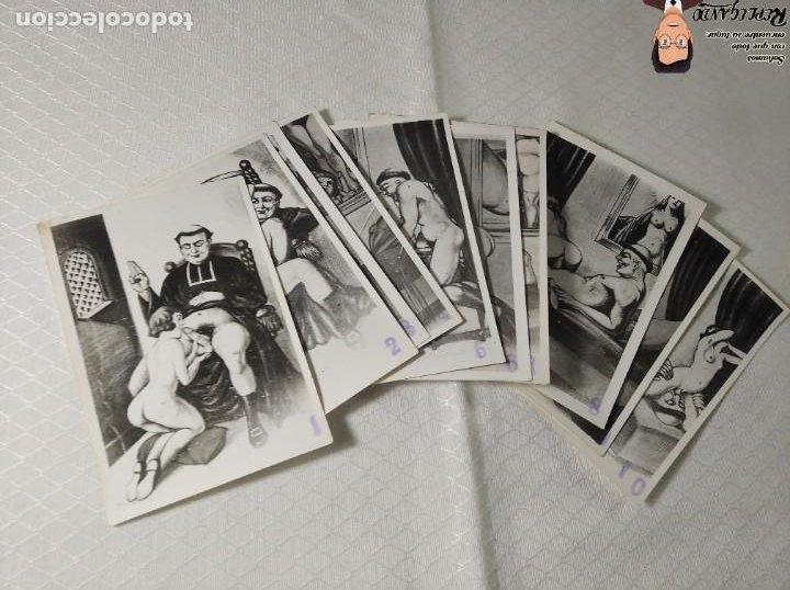 """Postales: COLECCIÓN 10 FOTOS PORNO ERÓTICAS (CROMOS NUMERADOS) """"LA CONFESIÓN"""" ZOOFILIA - AÑOS 30/40 - Foto 13 - 230804200"""