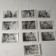 """Postales: COLECCIÓN 10 FOTOS PORNO ERÓTICAS (CROMOS NUMERADOS) """"EL CARTERO"""" - AÑOS 30/40. Lote 230804320"""