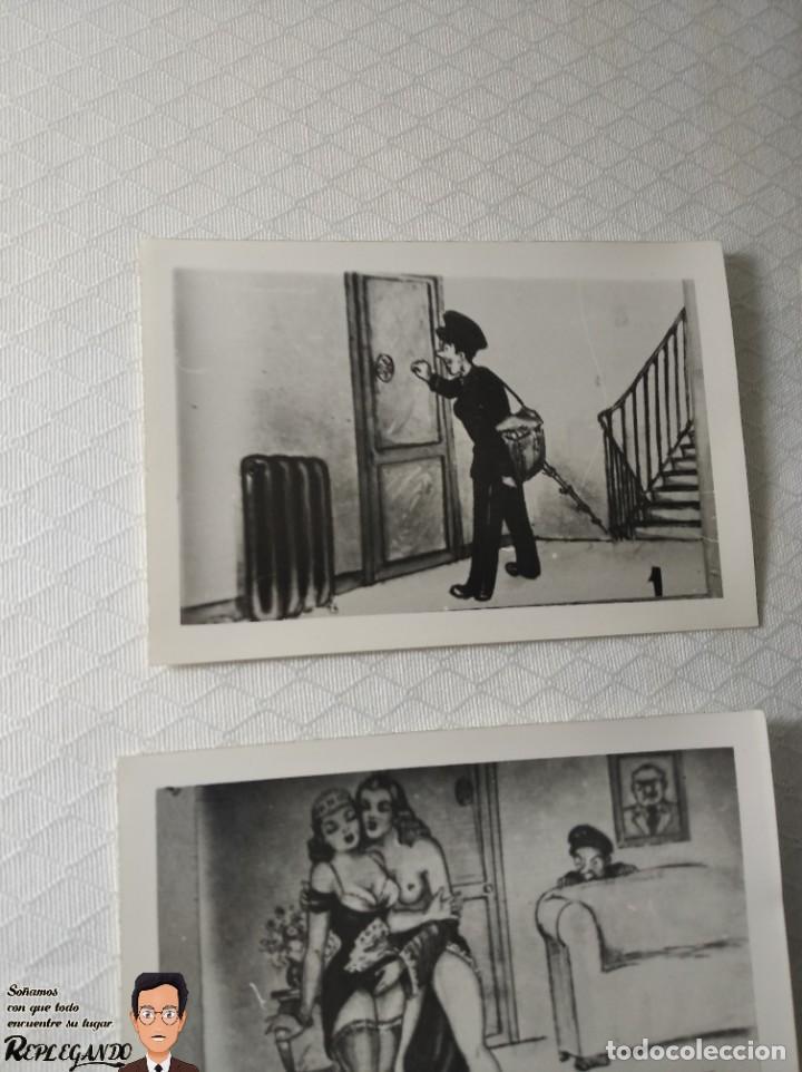 """Postales: COLECCIÓN 10 FOTOS PORNO ERÓTICAS (CROMOS NUMERADOS) """"EL CARTERO"""" - AÑOS 30/40 - Foto 2 - 230804320"""