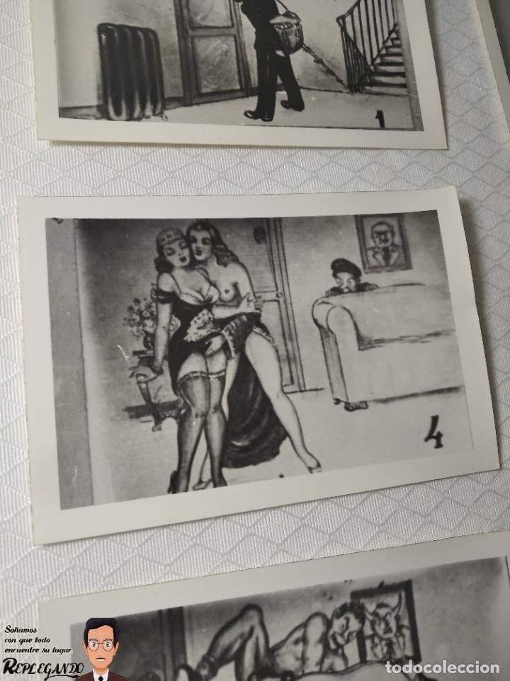 """Postales: COLECCIÓN 10 FOTOS PORNO ERÓTICAS (CROMOS NUMERADOS) """"EL CARTERO"""" - AÑOS 30/40 - Foto 5 - 230804320"""