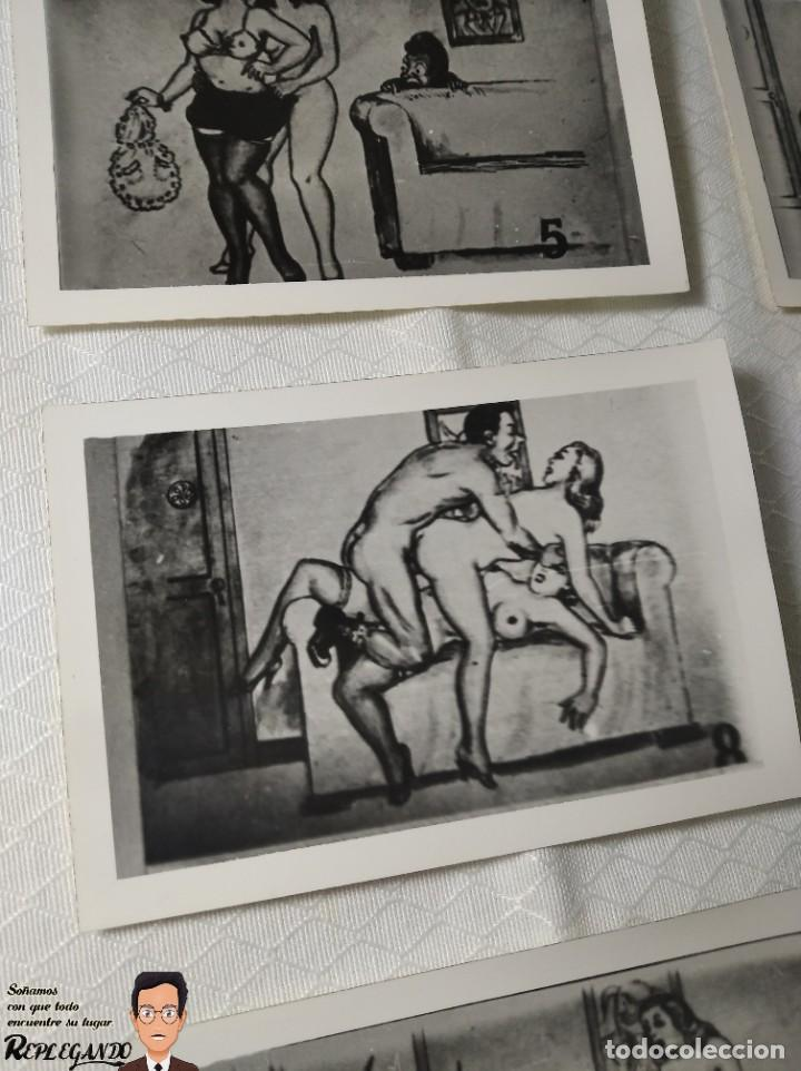 """Postales: COLECCIÓN 10 FOTOS PORNO ERÓTICAS (CROMOS NUMERADOS) """"EL CARTERO"""" - AÑOS 30/40 - Foto 9 - 230804320"""