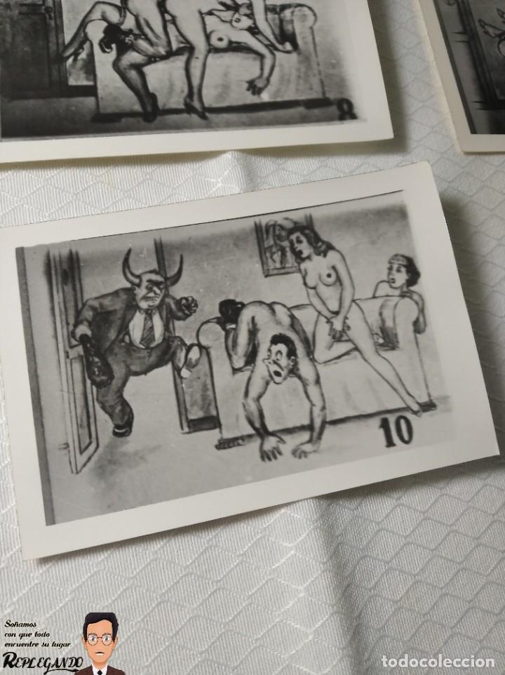 """Postales: COLECCIÓN 10 FOTOS PORNO ERÓTICAS (CROMOS NUMERADOS) """"EL CARTERO"""" - AÑOS 30/40 - Foto 11 - 230804320"""