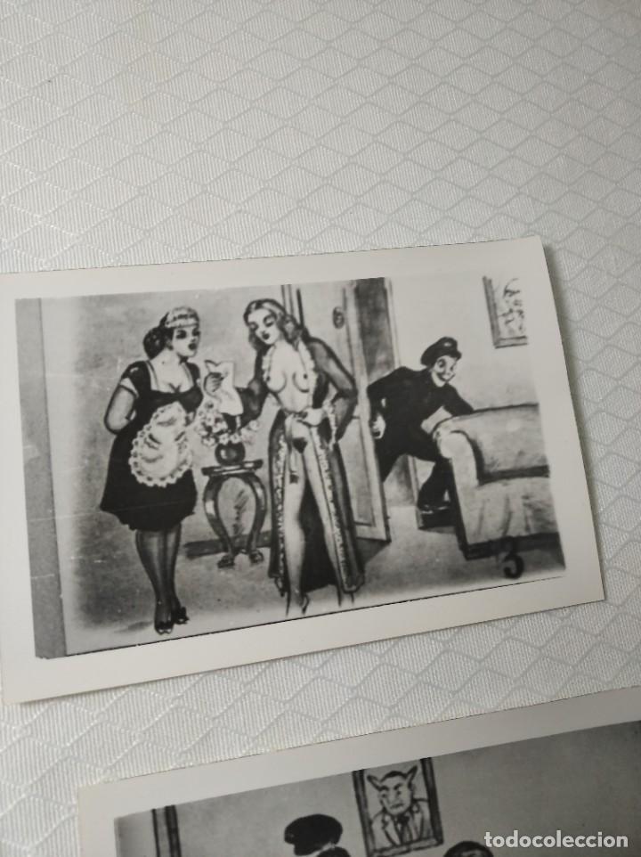 """Postales: COLECCIÓN 10 FOTOS PORNO ERÓTICAS (CROMOS NUMERADOS) """"EL CARTERO"""" - AÑOS 30/40 - Foto 4 - 230804320"""