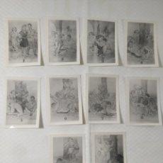 """Postales: COLECCIÓN 10 FOTOS PORNO ERÓTICAS (CROMOS NUMERADOS) """"MERIENDA EN EL CAMPO"""" - AÑOS 30/40. Lote 230804560"""