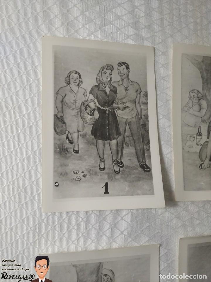 """Postales: COLECCIÓN 10 FOTOS PORNO ERÓTICAS (CROMOS NUMERADOS) """"MERIENDA EN EL CAMPO"""" - AÑOS 30/40 - Foto 2 - 230804560"""