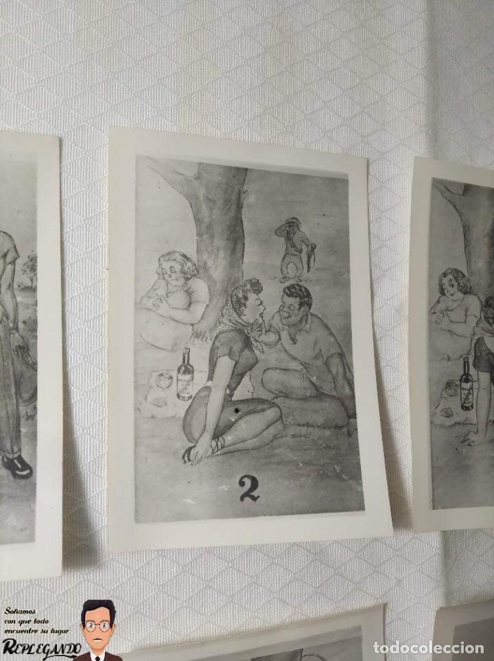 """Postales: COLECCIÓN 10 FOTOS PORNO ERÓTICAS (CROMOS NUMERADOS) """"MERIENDA EN EL CAMPO"""" - AÑOS 30/40 - Foto 3 - 230804560"""