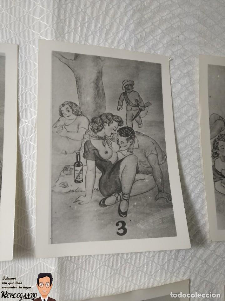 """Postales: COLECCIÓN 10 FOTOS PORNO ERÓTICAS (CROMOS NUMERADOS) """"MERIENDA EN EL CAMPO"""" - AÑOS 30/40 - Foto 4 - 230804560"""