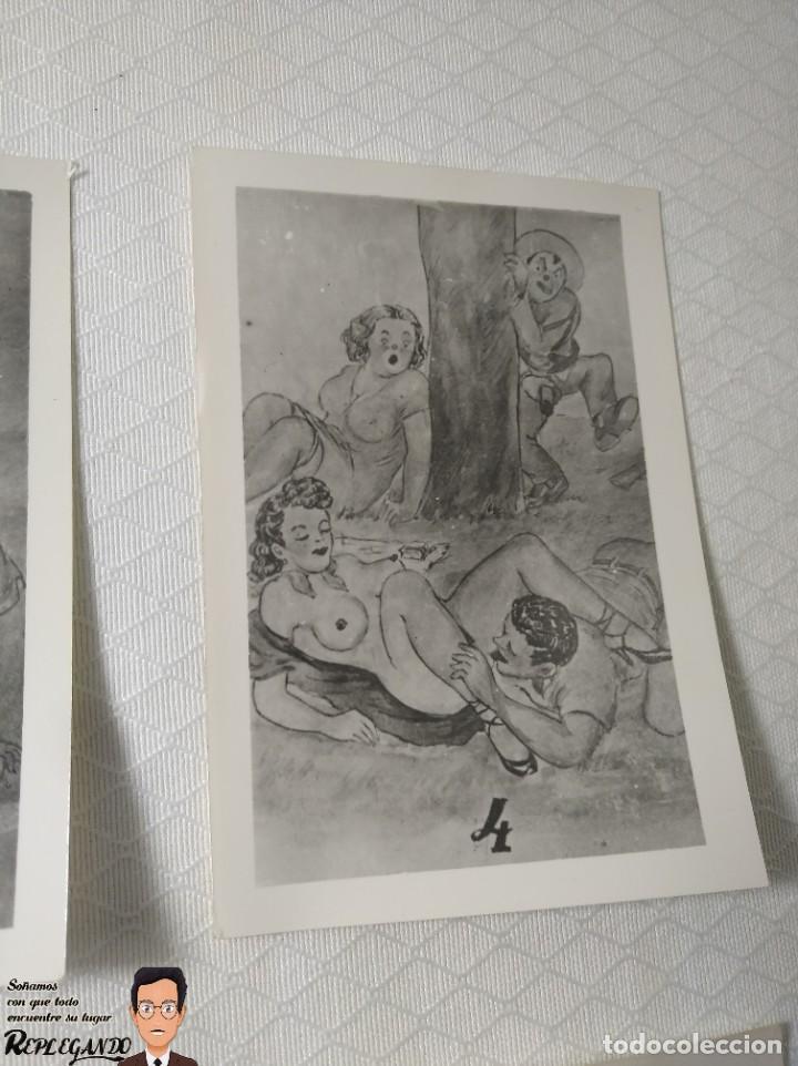 """Postales: COLECCIÓN 10 FOTOS PORNO ERÓTICAS (CROMOS NUMERADOS) """"MERIENDA EN EL CAMPO"""" - AÑOS 30/40 - Foto 5 - 230804560"""