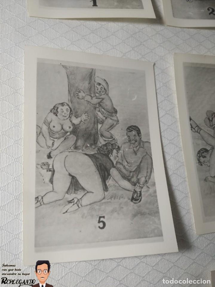 """Postales: COLECCIÓN 10 FOTOS PORNO ERÓTICAS (CROMOS NUMERADOS) """"MERIENDA EN EL CAMPO"""" - AÑOS 30/40 - Foto 6 - 230804560"""