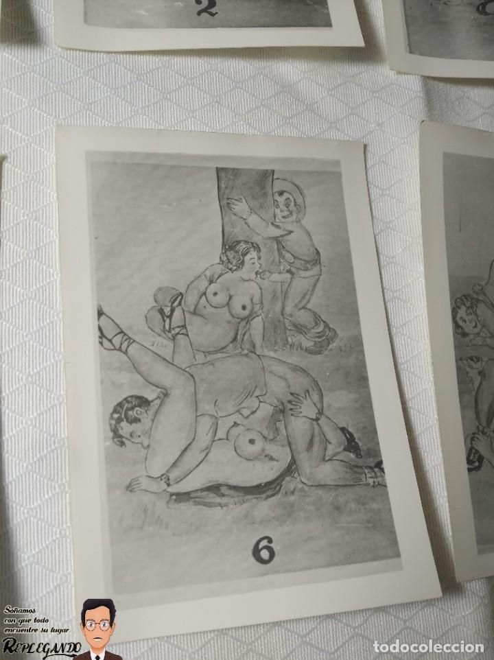 """Postales: COLECCIÓN 10 FOTOS PORNO ERÓTICAS (CROMOS NUMERADOS) """"MERIENDA EN EL CAMPO"""" - AÑOS 30/40 - Foto 7 - 230804560"""