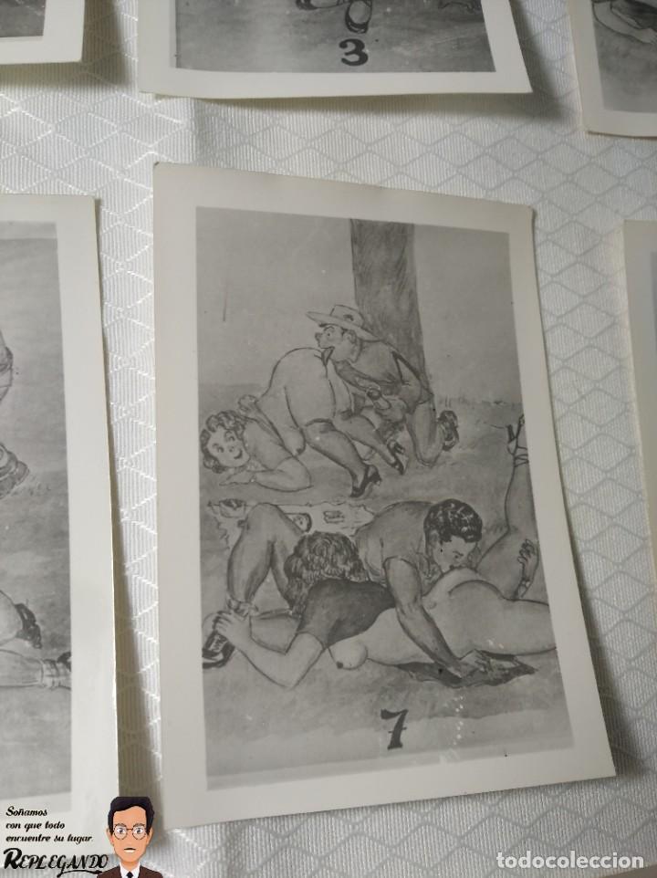 """Postales: COLECCIÓN 10 FOTOS PORNO ERÓTICAS (CROMOS NUMERADOS) """"MERIENDA EN EL CAMPO"""" - AÑOS 30/40 - Foto 8 - 230804560"""