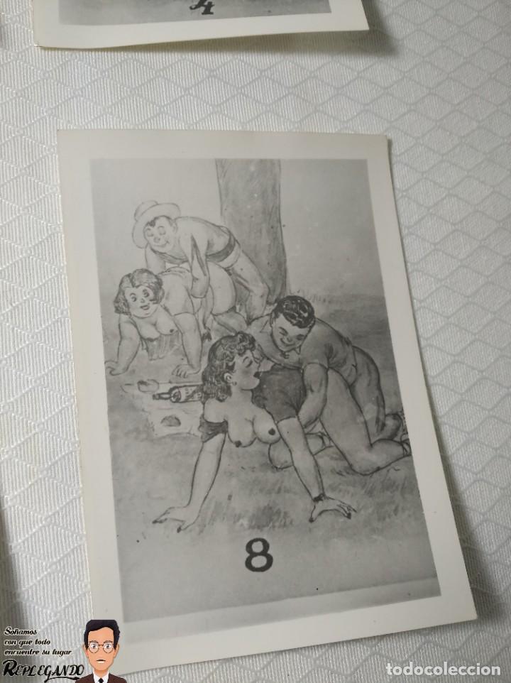 """Postales: COLECCIÓN 10 FOTOS PORNO ERÓTICAS (CROMOS NUMERADOS) """"MERIENDA EN EL CAMPO"""" - AÑOS 30/40 - Foto 9 - 230804560"""