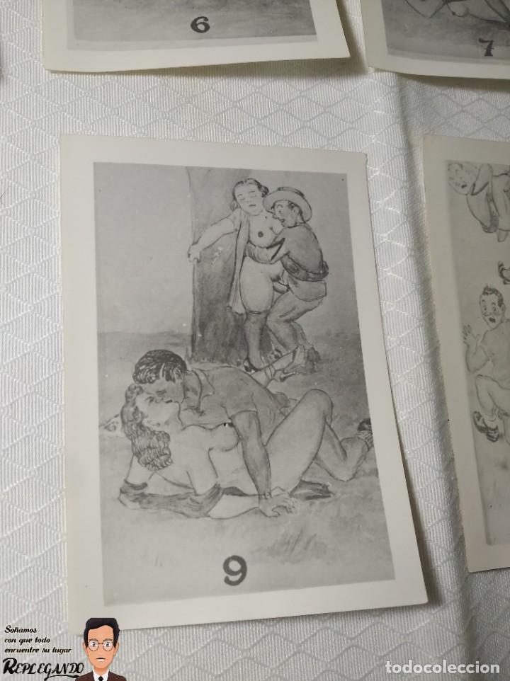 """Postales: COLECCIÓN 10 FOTOS PORNO ERÓTICAS (CROMOS NUMERADOS) """"MERIENDA EN EL CAMPO"""" - AÑOS 30/40 - Foto 10 - 230804560"""