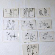 """Postales: COLECCIÓN 10 FOTOS PORNO ERÓTICAS (CROMOS NUMERADOS) """"EL MÉDICO"""" - AÑOS 30/40. Lote 230804685"""