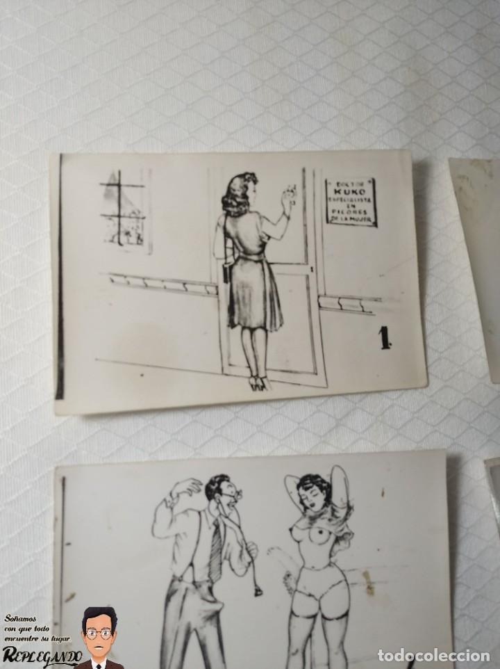 """Postales: COLECCIÓN 10 FOTOS PORNO ERÓTICAS (CROMOS NUMERADOS) """"EL MÉDICO"""" - AÑOS 30/40 - Foto 2 - 230804685"""