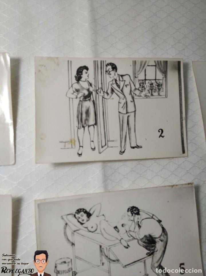 """Postales: COLECCIÓN 10 FOTOS PORNO ERÓTICAS (CROMOS NUMERADOS) """"EL MÉDICO"""" - AÑOS 30/40 - Foto 3 - 230804685"""