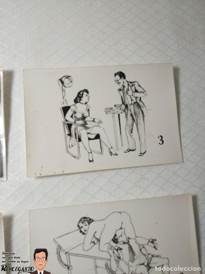 """Postales: COLECCIÓN 10 FOTOS PORNO ERÓTICAS (CROMOS NUMERADOS) """"EL MÉDICO"""" - AÑOS 30/40 - Foto 4 - 230804685"""