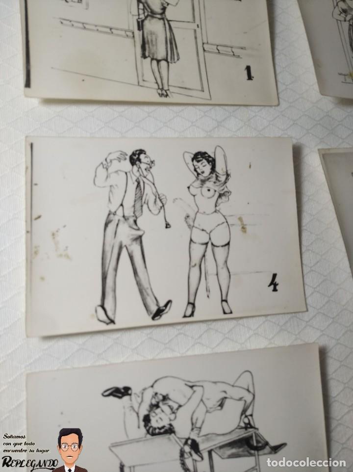 """Postales: COLECCIÓN 10 FOTOS PORNO ERÓTICAS (CROMOS NUMERADOS) """"EL MÉDICO"""" - AÑOS 30/40 - Foto 5 - 230804685"""