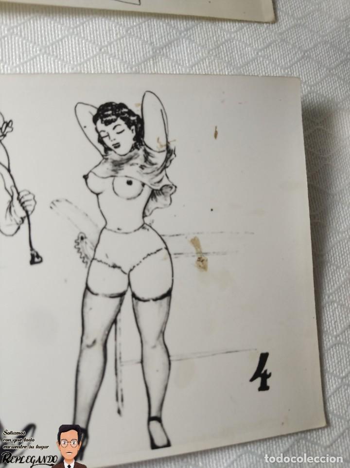 """Postales: COLECCIÓN 10 FOTOS PORNO ERÓTICAS (CROMOS NUMERADOS) """"EL MÉDICO"""" - AÑOS 30/40 - Foto 6 - 230804685"""