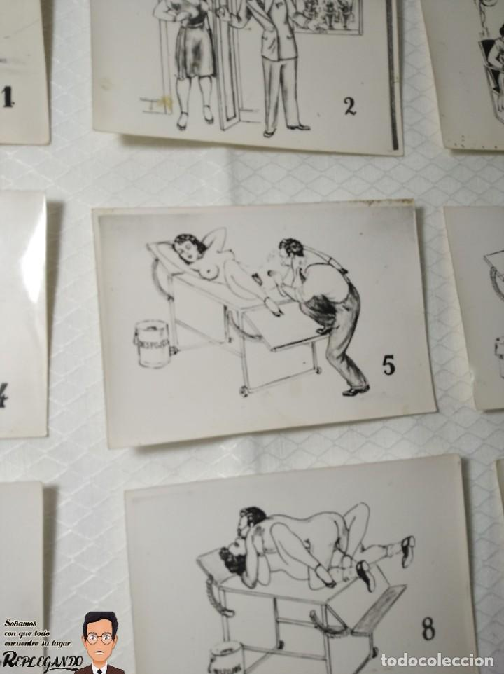 """Postales: COLECCIÓN 10 FOTOS PORNO ERÓTICAS (CROMOS NUMERADOS) """"EL MÉDICO"""" - AÑOS 30/40 - Foto 7 - 230804685"""