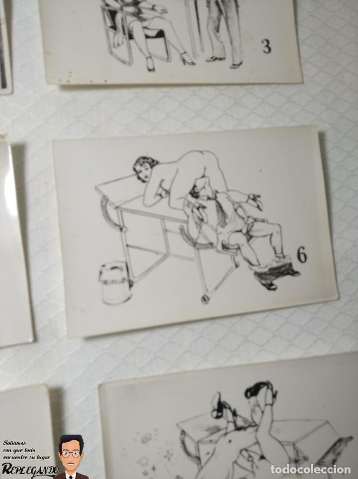 """Postales: COLECCIÓN 10 FOTOS PORNO ERÓTICAS (CROMOS NUMERADOS) """"EL MÉDICO"""" - AÑOS 30/40 - Foto 8 - 230804685"""