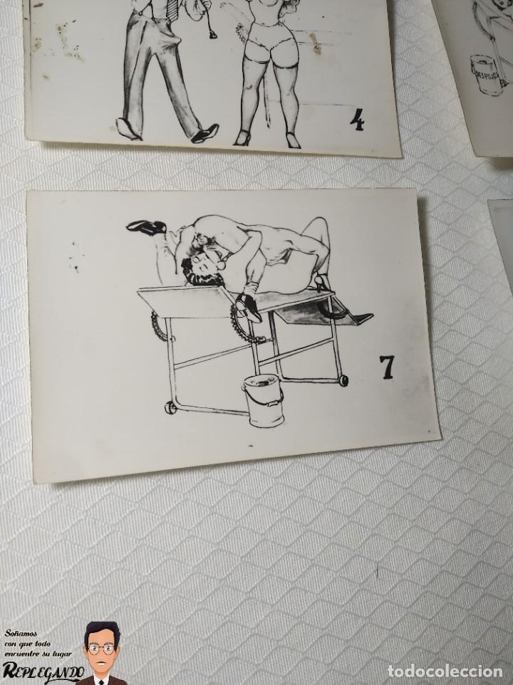 """Postales: COLECCIÓN 10 FOTOS PORNO ERÓTICAS (CROMOS NUMERADOS) """"EL MÉDICO"""" - AÑOS 30/40 - Foto 9 - 230804685"""