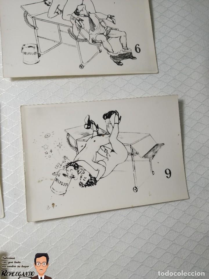 """Postales: COLECCIÓN 10 FOTOS PORNO ERÓTICAS (CROMOS NUMERADOS) """"EL MÉDICO"""" - AÑOS 30/40 - Foto 11 - 230804685"""