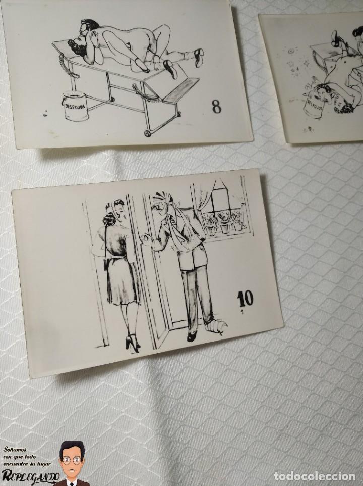 """Postales: COLECCIÓN 10 FOTOS PORNO ERÓTICAS (CROMOS NUMERADOS) """"EL MÉDICO"""" - AÑOS 30/40 - Foto 12 - 230804685"""
