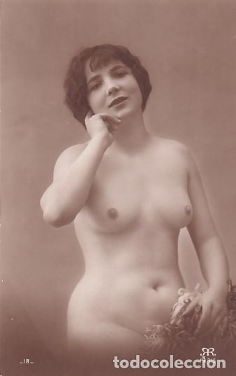 FOTOGRAFÍA TAMAÑO POSTAL MUJER DESNUDA. PARIS. (Coleccionismo para Adultos - Postales Temáticas - Eróticas y Pin Ups)