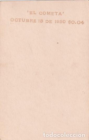 Postales: Fotografía tamaño postal SAPI 2086 El cometa octubre 1930 - Foto 2 - 236084960