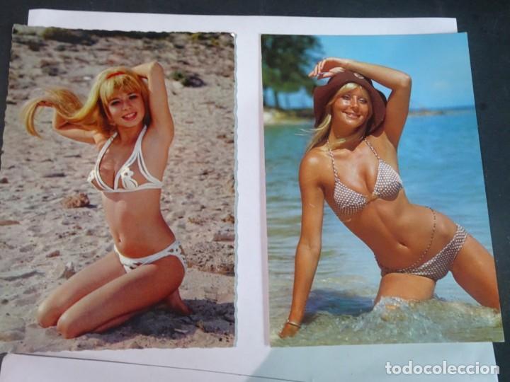 LOTE DE 2 POSTALES ERÓTICAS AÑOS 70, VER FOTOS (Coleccionismo para Adultos - Postales Temáticas - Eróticas y Pin Ups)