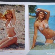 Postales: LOTE DE 2 POSTALES ERÓTICAS AÑOS 70, VER FOTOS. Lote 245244390