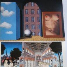 Postales: LOTE DE 2 POSTALES CUADROS , VER FOTOS. Lote 245244925