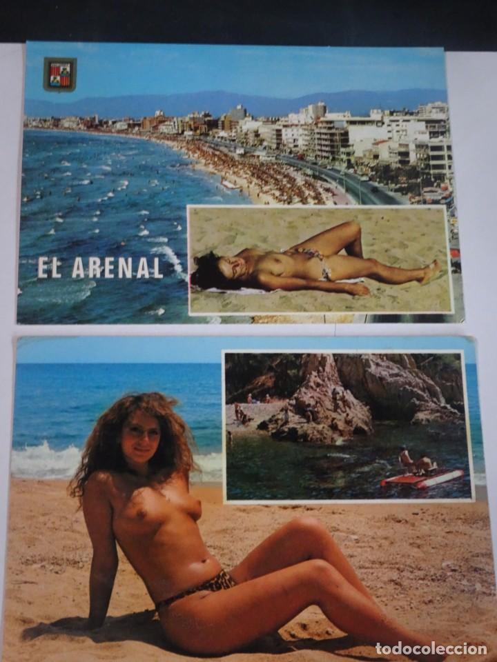 Postales: LOTE DE 2 POSTALES PLAYA, TOPLESS , VER FOTOS - Foto 8 - 245245400